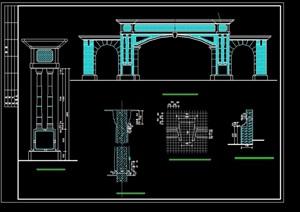某小区大门设计cad方案图