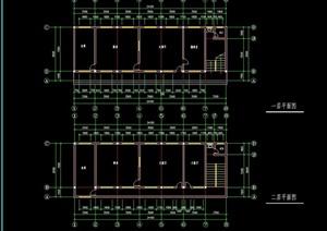 干警食堂建筑cad平面图