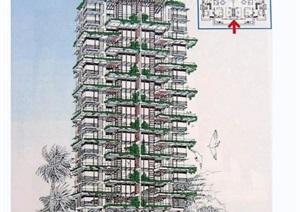 住宅小区规划jpg手绘图