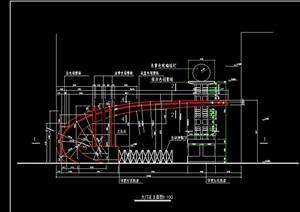 某现代小区大门设计cad施工图