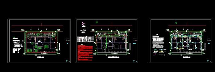 某开发区派出所公安局办公楼全套施工图及效果图设计(6)