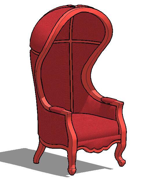欧式风格独特详细的椅子设计su模型[原创]