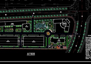 工业园总平面规划设计cad方案