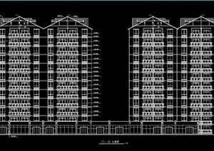 高层住宅楼全套cad施工图