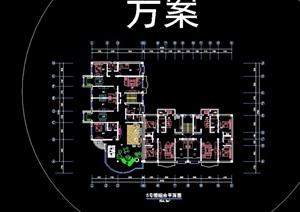 六栋住宅楼cad方案