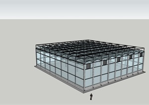 现代智能温室SU(草图大师)模型