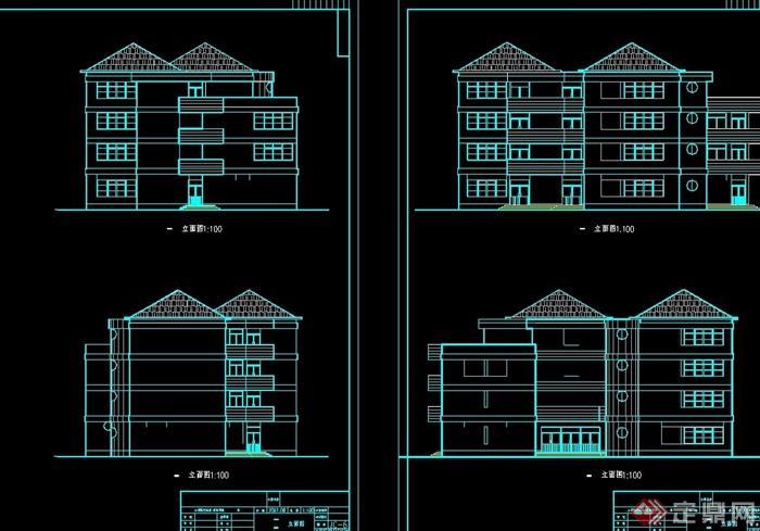 欧式多层幼儿园建筑设计cad方案[原创]