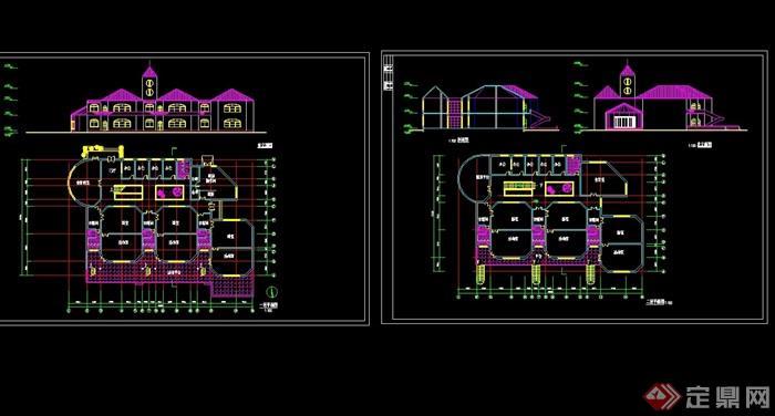 欧式幼儿园建筑设计cad方案[原创]