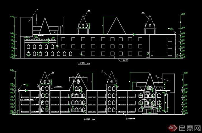 某欧式多层幼儿园设计cad方案图[原创]