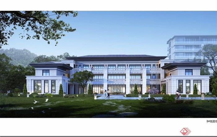 临安住宅区多层详细建筑设计cad方案及效果图