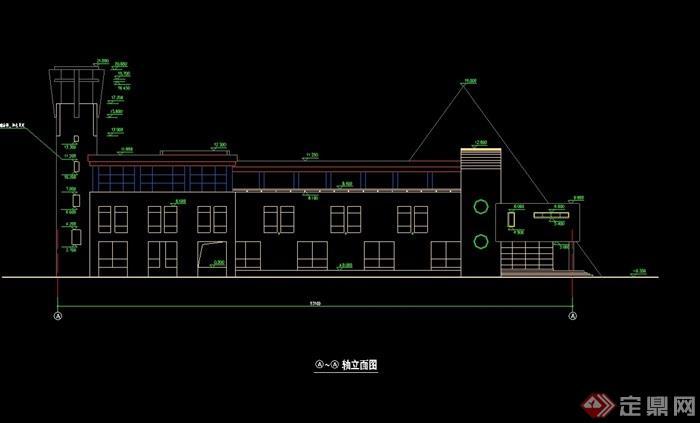 欧式多层幼儿园教学楼cad方案[原创]
