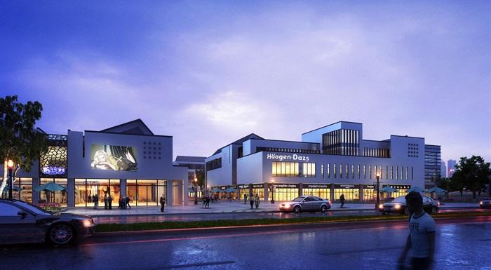 某新中式商業街區方案設計(CAD、su模型、效果圖)(2)