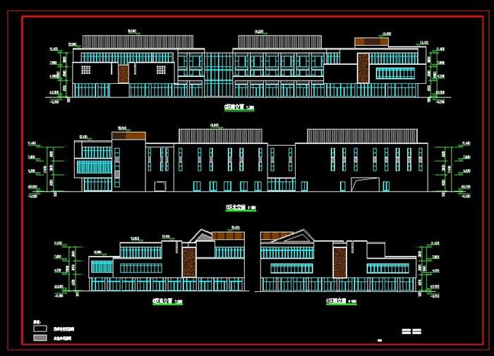 某新中式商業街區方案設計(CAD、su模型、效果圖)(6)