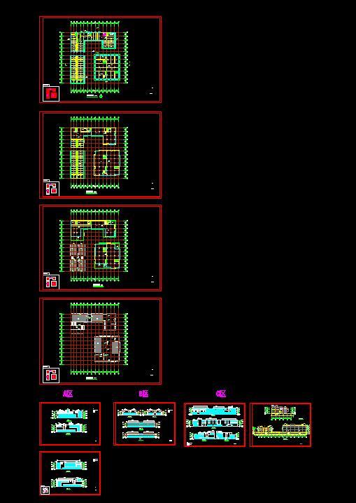 某新中式商業街區方案設計(CAD、su模型、效果圖)(7)