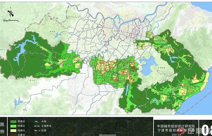 某市鄞州区布局空间方案规划设计jpg、cad城乡清华天河cad2006破解版图片