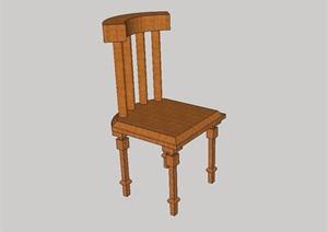 全木质详细完整的椅子SU(草图大师)模型