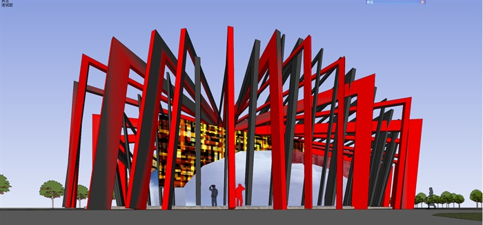 詳細現代風格商業住宅樓詳細設計su模型