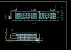 小学教学楼建筑cad方案