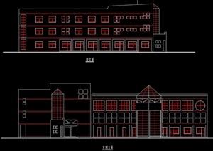 学校教学楼建筑cad方案