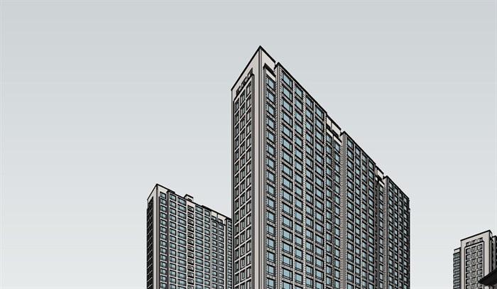 新亚洲风格_新亚洲风格精细商业住宅楼su模型[原创]