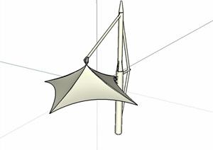 张拉膜小品素材SU(草图大师)模型