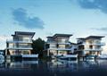 現代簡約水上度假別墅cad方案及su模型