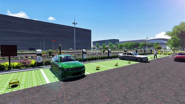 武汉天河飞机场l建筑设计su模型