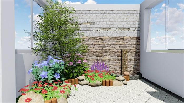 某小花园别墅设计su模型及效果图[原创]图片