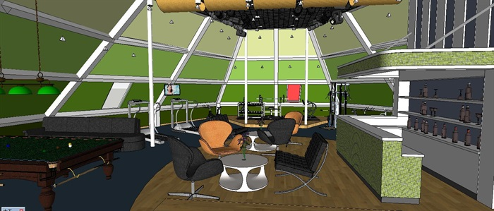 休闲健身运动中心(带CAD和效果图)(3)