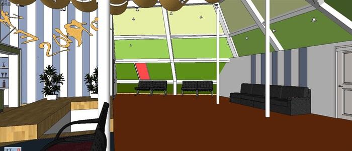 休闲健身运动中心(带CAD和效果图)(4)