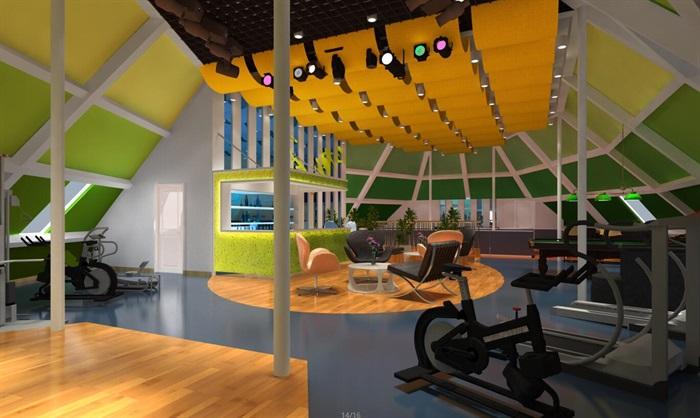 休闲健身运动中心(带CAD和效果图)(8)