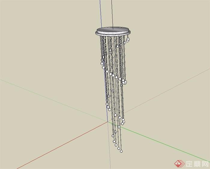 室内装饰吊灯顶灯su模型