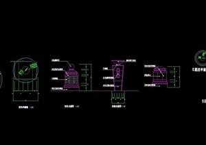 现代景观灯柱设计cad施工图