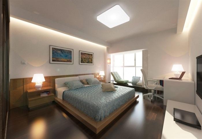 简约住宅家装室内设计su模型及效果图