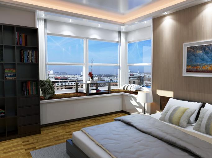 现代业主室内住宅空间装饰设计su模型