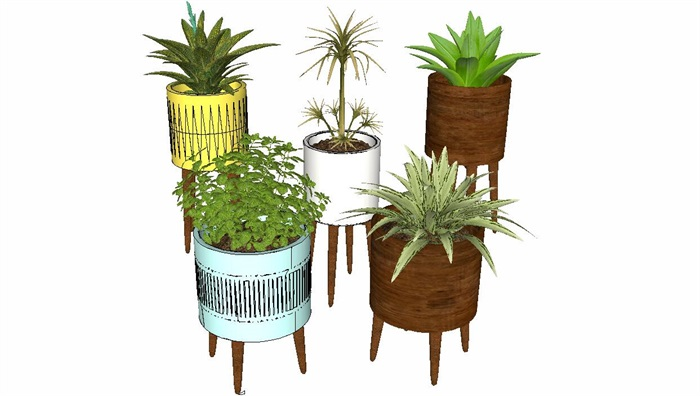 室内盆栽花架植物墙艺术花卉(1)
