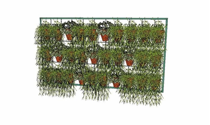室内盆栽花架植物墙艺术花卉(6)