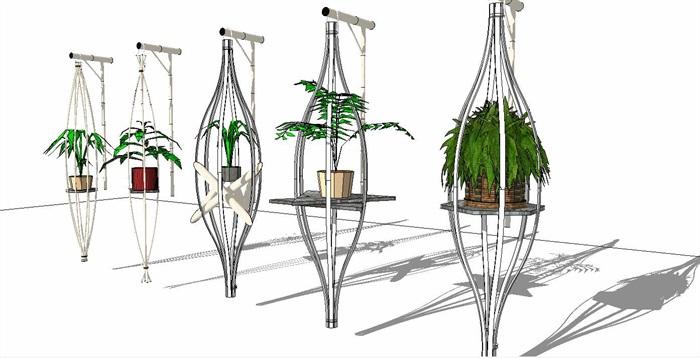 室内盆栽花架植物墙艺术花卉(8)