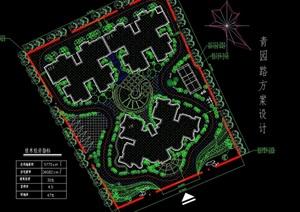 现代住宅景观设计cad方案图