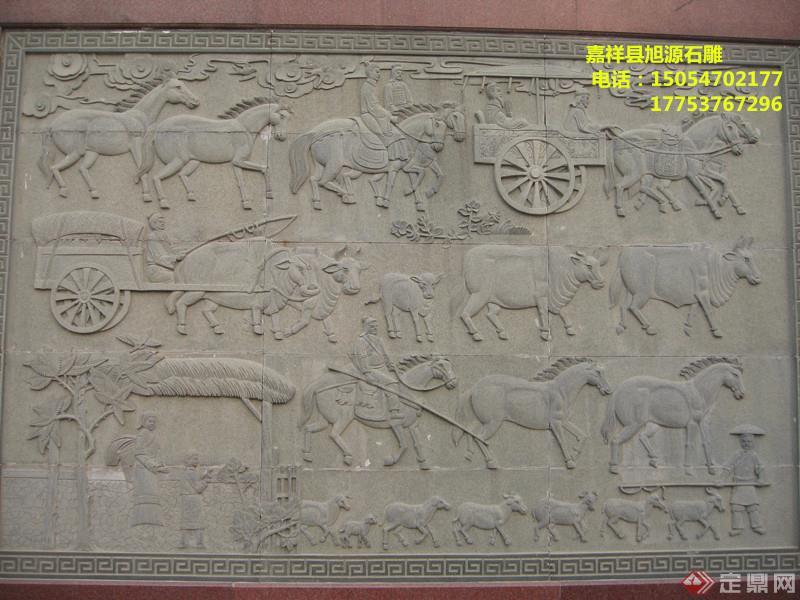 旭源公司专业石雕壁画 雕刻石头壁画,大理石壁画,低价