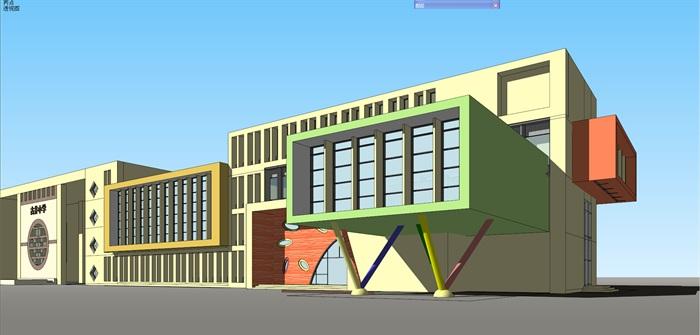 小学古井原创楼v小学su平面[建筑]模型设计图包装盒cd图片
