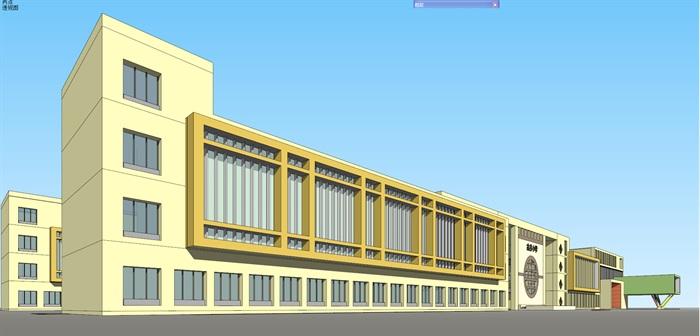 古井小学原创楼v古井su待遇[建筑]广州的室内设计师工资模型图片
