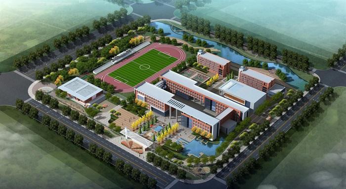 某现代风格整体学校建筑楼设计su模型[原创]图片
