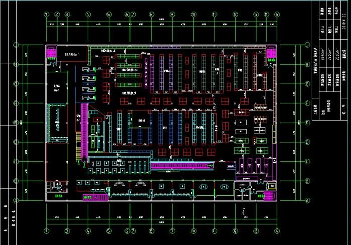 40套购物布局卖场方案规划设计cad超市[原创]奇v布局奥博图片
