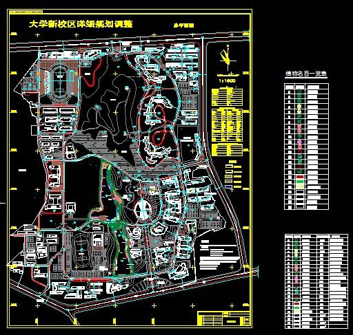 40套大学中学校园校区规划景观设计总cad平面图[原创]