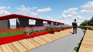 屋顶花园su模型