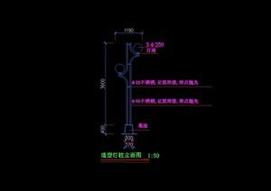 景观灯柱详细设计cad方案