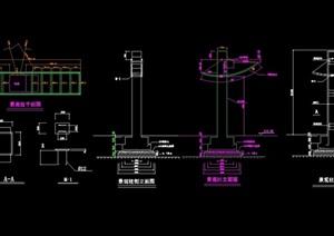 现代风格景观灯柱cad施工图