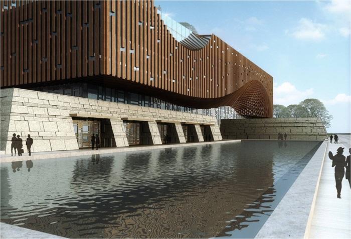 文化中心建筑设计方案su模型素材[原创]