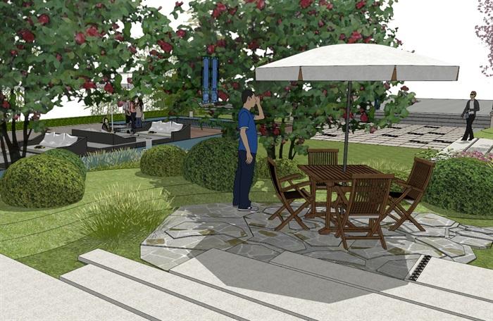建筑屋顶绿化花园景观竹林(4)